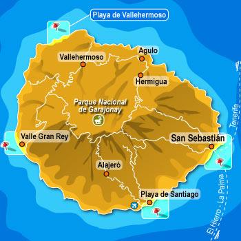 mappa de La Gomera