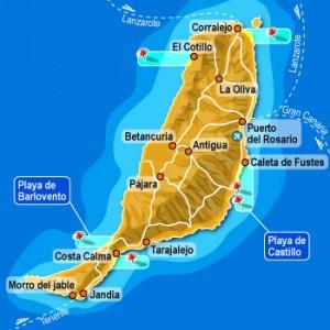 Mappa di Fuerteventura