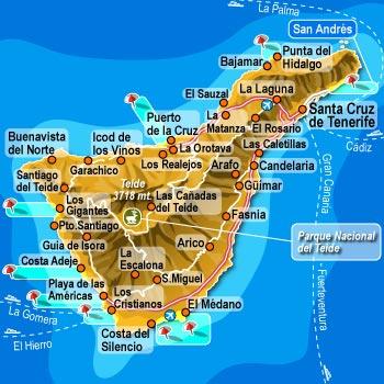 Isola Tenerife Cartina.Tenerife Spiagge Bianche E Nere Per Le Tue Vacanze Tra Mare E Attrazioni